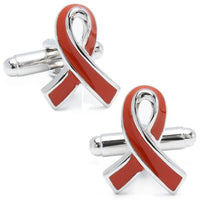Pink Ribbon Breast Cancer Awareness Cufflinks-Cufflinks-Here Comes The Bling‰̣ۡå¢