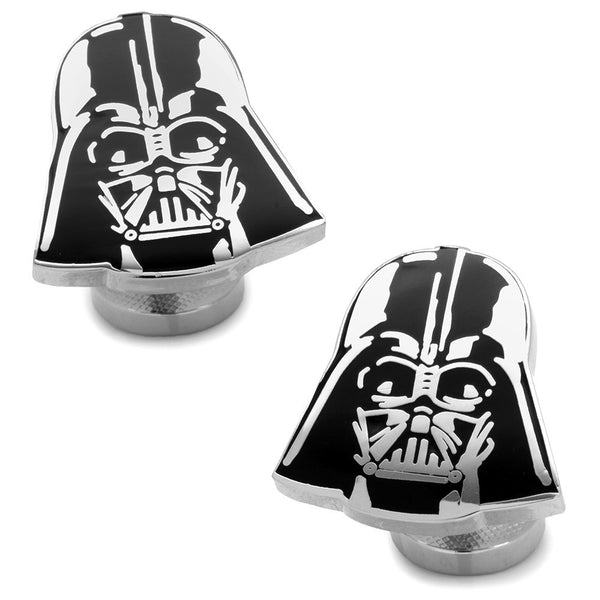 Recessed Matte Darth Vader Head Cufflinks-Cufflinks-Here Comes The Bling™