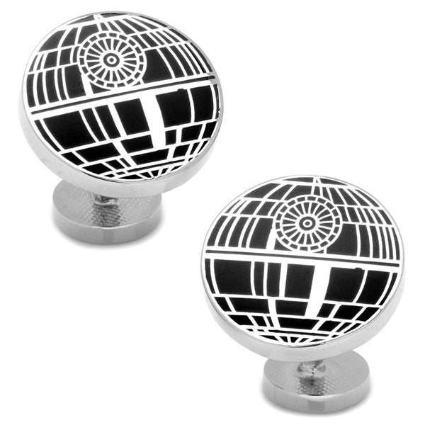 Recessed Matte Death Star Cufflinks-Cufflinks-Here Comes The Bling™