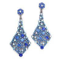 Royal Blue Crystal Prom Earrings-Earrings-Here Comes The Bling™