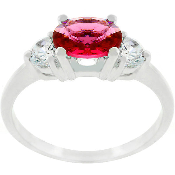 Serenade Oval Cubic Zirconia Ring in Garnet Red-Rings-Here Comes The Bling™