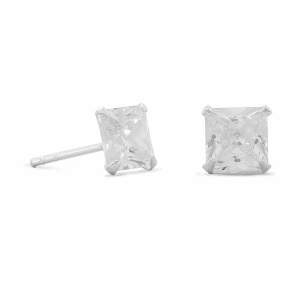 Square CZ Stud Earrings-Earrings-Here Comes The Bling™
