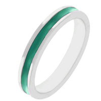Stackable Enamel Eternity Ring in Green-Rings-Here Comes The Bling™