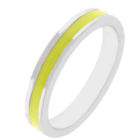 Stackable Enamel Eternity Ring in Yellow-Rings-Here Comes The Bling™