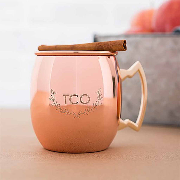Woodland Monogram Copper Moscow Mule Mug-Drinkware-Here Comes The Bling™