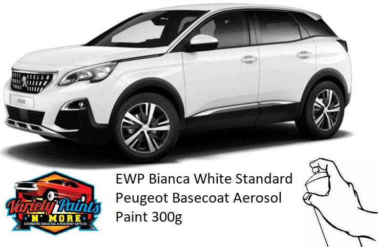 EWP Bianca White Standard Peugeot Basecoat Spray Paint 300 Grams