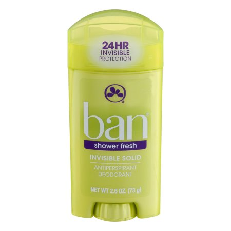 Ban Invisible Solid Antiperspirant Deodorant Shower Fresh 2.6 oz