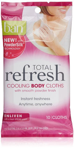 Ban Total Refresh Cooling Body Cloths 10 count