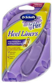 Dr. Scholl's For Her Heel Liners One Pair