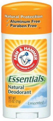 Arm & Hammer Essentials Natural Deodorant Solid Unscented 2.5 oz.
