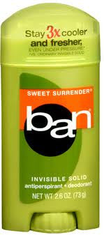 Ban Invisible Solid Antiperspirant Deodorant Sweet Surrender 2.6 oz.