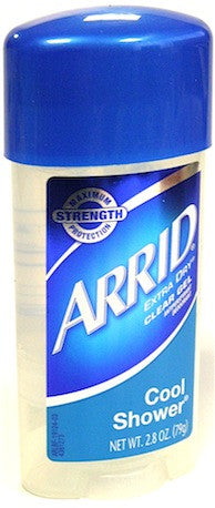 Arrid Extra Dry Clear Gel Antiperspirant Deodorant Cool Shower 2.8 oz.