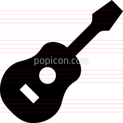 Acoustic Guitar Vector Icon