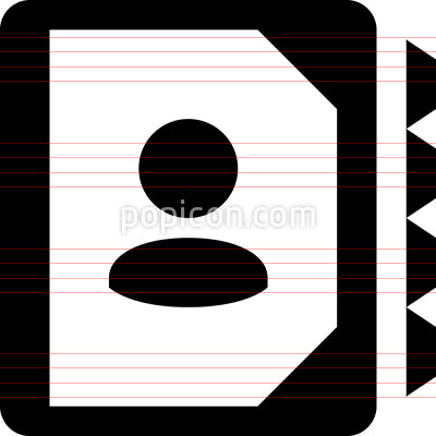 Address Book Contacts Vector Icon
