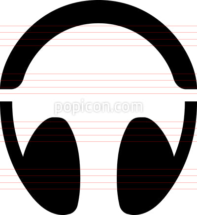 Audio Headphones Vector Icon