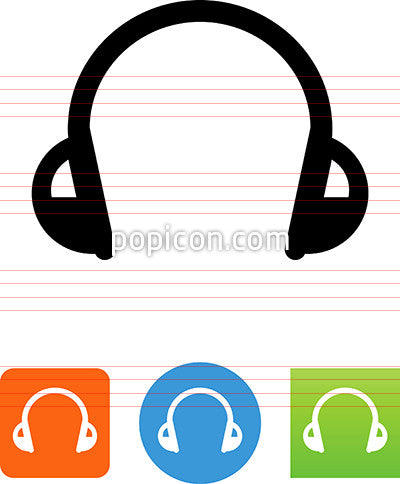 Audio Music Headphones Icon
