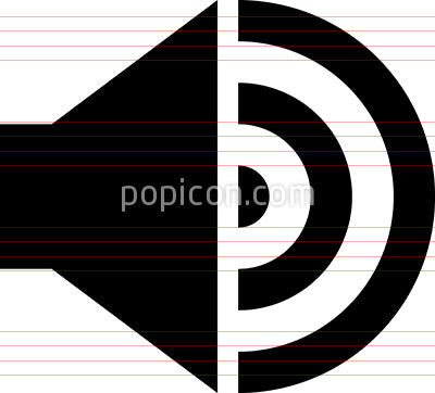 Audio Speaker Sound Vector Icon