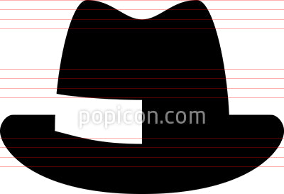 Fedora Hat Vector Icon