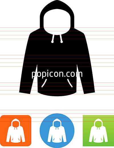 Hoodie With Hood Up Icon