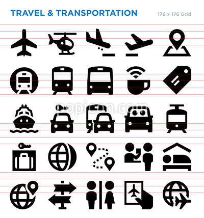 Travel Vector Icon Set