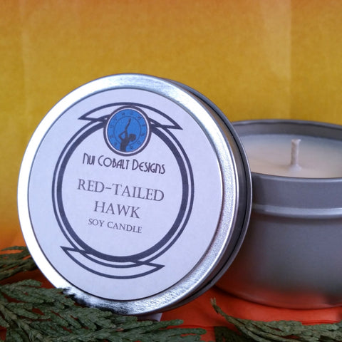 Red-Tailed Hawk Soy Candle
