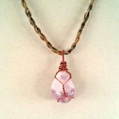 Tumbled Amethyst Necklace