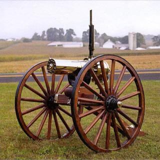 CLT GATLING GUN 1877 HS BULLDOG 10 BBL CARRIAGE - 45-70GOV