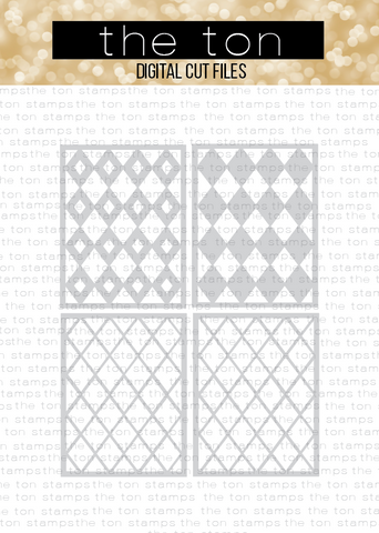 Diamond Plaid Layering Coverplates SVG Cut File