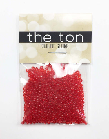 Apple Red Seed Beads