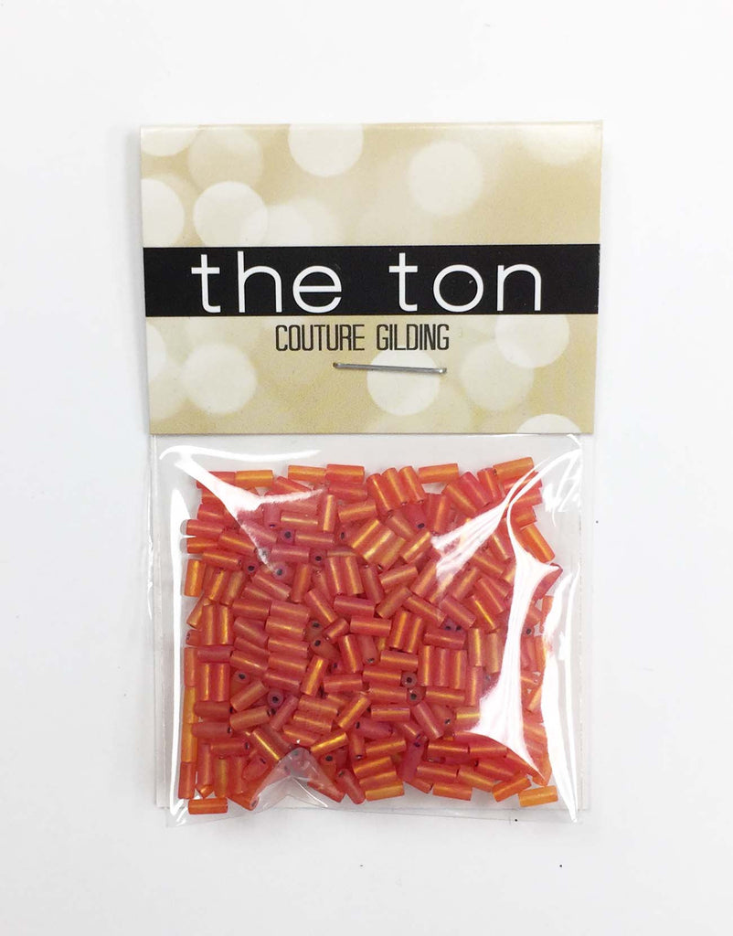 Coral Party Long Bugle Beads