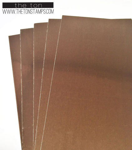 Adhesive Foil Paper - Copper (3.9in x 9in)