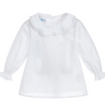 Soft Cotton Ruffle Blouse
