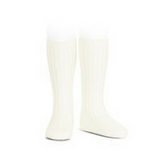 Cream Ribbed Socks - Classical Child  - 1