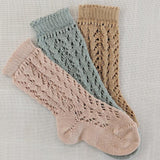 Old Rose Long Open Lace Socks | Condor