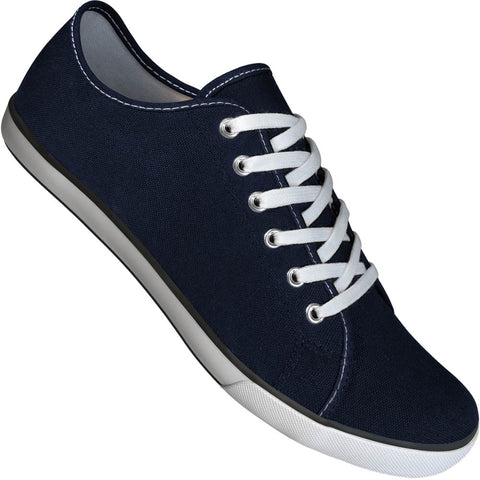 Aris Allen Men's Navy Canvas Gym Style Dance Sneakers