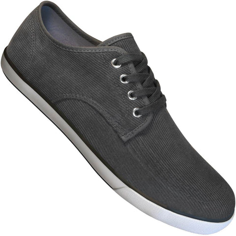 Aris Allen Men's Grey Corduroy Oxford Dance Sneakers
