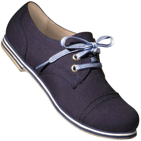Aris Allen Women's Navy Blue Canvas Captoe Dance Shoes - *Limited Sizes*