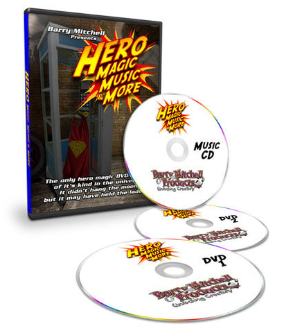 Hero Magic, Music, & More DVD/CD/PDF Book