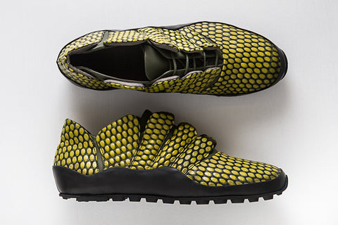 Picture of Horus Green unisex shoes by Marita Moreno. Shop online at by-PT.com