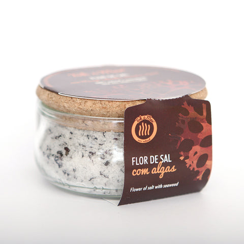 Flor de Sal com algas musgo irlandês. Flower of salt with seaweed flakes Irish moss Tok de Mar by AlgaPlus at by-PT.com
