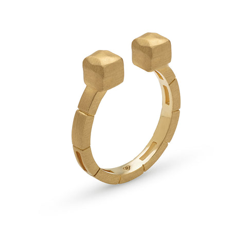 Calçada Ring designed by Mater Jewellery Tales, Mater Jewellery Tales Ring, Golden plated ring, shop online rings