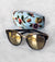 Tort sunnies with floral case