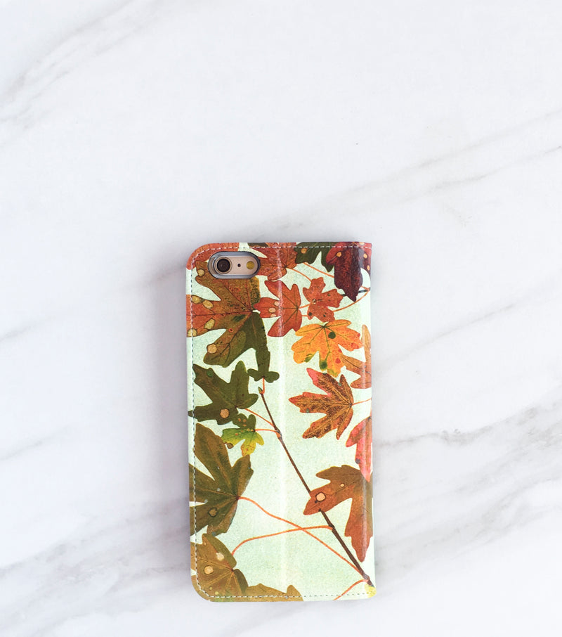 Fall Leaves Wallet Case for iPhone