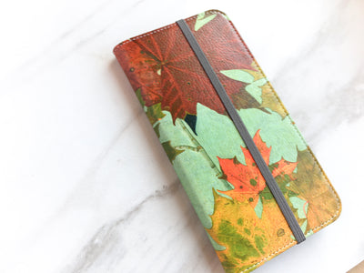 Autumn Leaves Wallet on marble