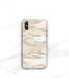 Nude camo print iPhone case