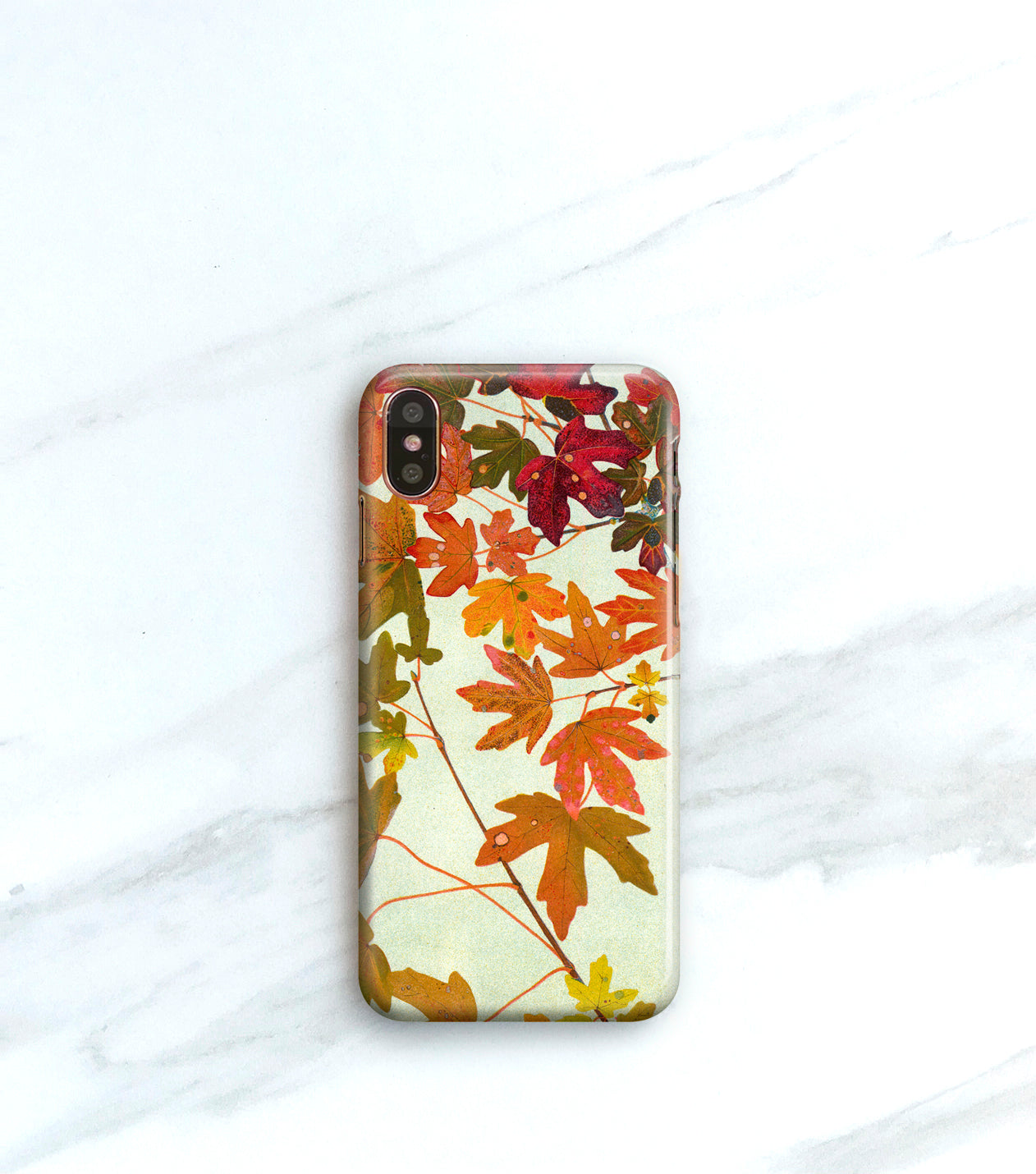 fall leaves iPhone xs phone case