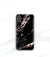 rose black marble iPhone xs max case with initials