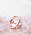 finger phone holder in rose gold with bow