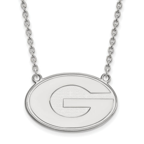 14kw LogoArt University of Georgia Large Pendant w/Necklace