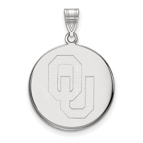 14kw LogoArt University of  Oklahoma Large Disc Pendant
